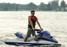 Boy on Jetski Stock Photos