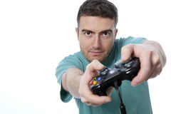 Boy joypad Royalty Free Stock Image
