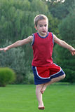 Boy Jumping Stock Photography