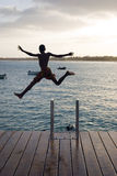 Boy jumping. Stock Photos