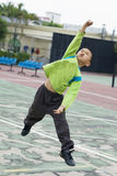 A boy jumping Stock Image