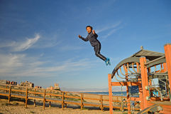 Boy Jumping Royalty Free Stock Photos