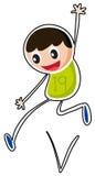 A boy jumping Royalty Free Stock Image