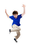 Boy jumping Stock Image