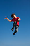 Boy jumping outdoor Royalty Free Stock Photos