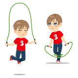 Boy Jumping Rope Royalty Free Stock Photos