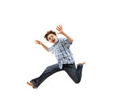 Boy jumping, running Stock Photo