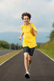 Boy running outdoor Stock Photos
