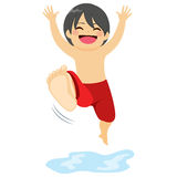 Boy Jumping Water Royalty Free Stock Photos