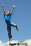 Boy Jumps Royalty Free Stock Photography
