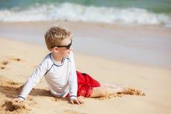 Boy at kauai Stock Photo