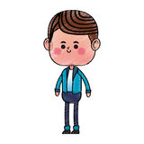 Boy kawaii icon Stock Images