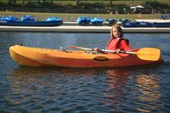 Boy kayaking Royalty Free Stock Photo