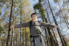 Boy keeping balance Stock Photos