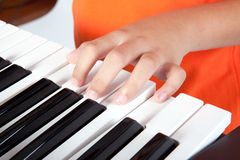 Boy and the keyboard Royalty Free Stock Image