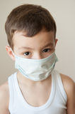 Boy kid epidemic flu medicine child  medical mask Royalty Free Stock Photo