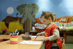 Boy at kindergarten Royalty Free Stock Images