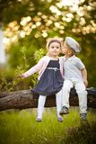Boy kissed girl Stock Photography