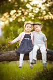 Boy kissed girl Royalty Free Stock Images