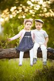 Boy kissed girl Royalty Free Stock Photography