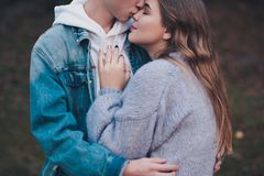 Free Boy Kissing Girl Stock Image - 158058611