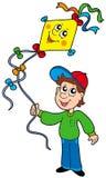 Boy with kite Stock Image