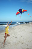 Boy with the kite Stock Image