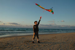 Boy with kite Stock Photo