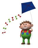 Boy with kite Stock Image