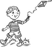 Boy with a kite.Children. Stock Photos