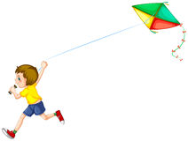 Boy and kite Stock Photography