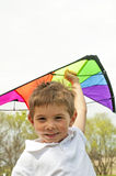 Boy and kite Stock Photo