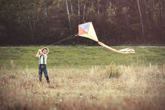 Boy with kite. Smiling boy with a kite Stock Images