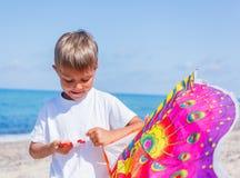 Boy with kite Royalty Free Stock Photos