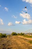 The boy Kite surfing. Royalty Free Stock Photos