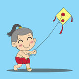 Boy with kite Stock Photos