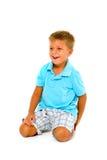 Boy kneeling Stock Photo