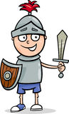 Boy in knight costume cartoon Royalty Free Stock Photos