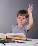 Boy knows the answer Royalty Free Stock Photos