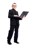 Boy with a laptop Royalty Free Stock Images