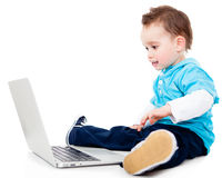 Boy with a laptop Stock Photo