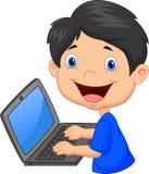 Boy with laptop Stock Photos