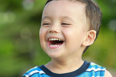 Boy laughing Royalty Free Stock Image