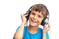 The boy is laughing Stock Photography