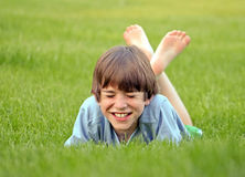 Boy Laughing Royalty Free Stock Images
