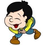 Boy Laughing. Cartoon Illustration, Vector Stock Image