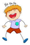 Boy laughing Royalty Free Stock Photography