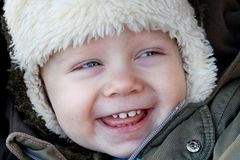 The boy laughing Stock Photography