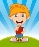 The boy laughing vector illustration. Full color Stock Photo
