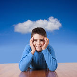 Boy leaning Royalty Free Stock Photo